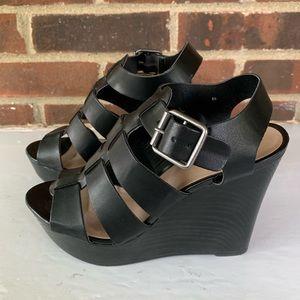 Nine West platform wedge sandals